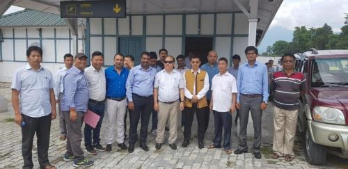 Tezu temporary Terminal building-  04/5/18 with AAI & Dist. Officers.